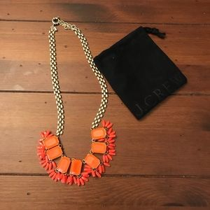 J.Crew Orange Fringed Neon Necklace